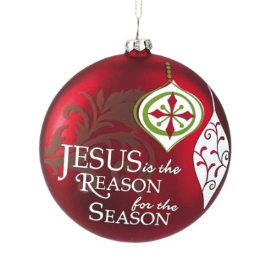 Jesus is the reason ornament