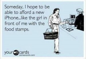 iPhone food stamps