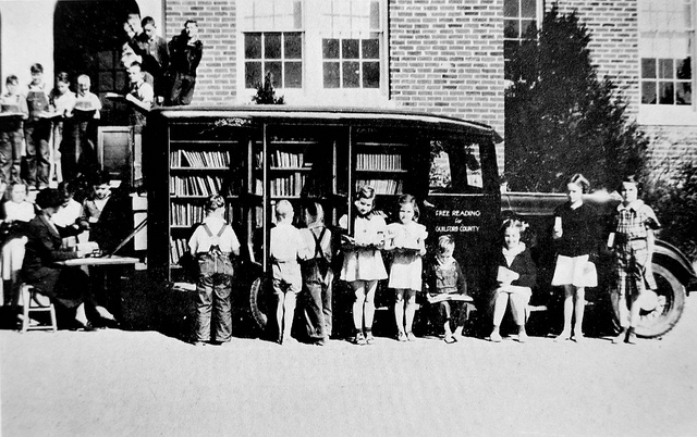 Greensboro Public Library bookmobile circa 1936