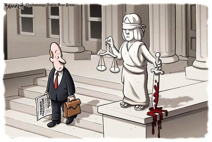 Justice bloody sword