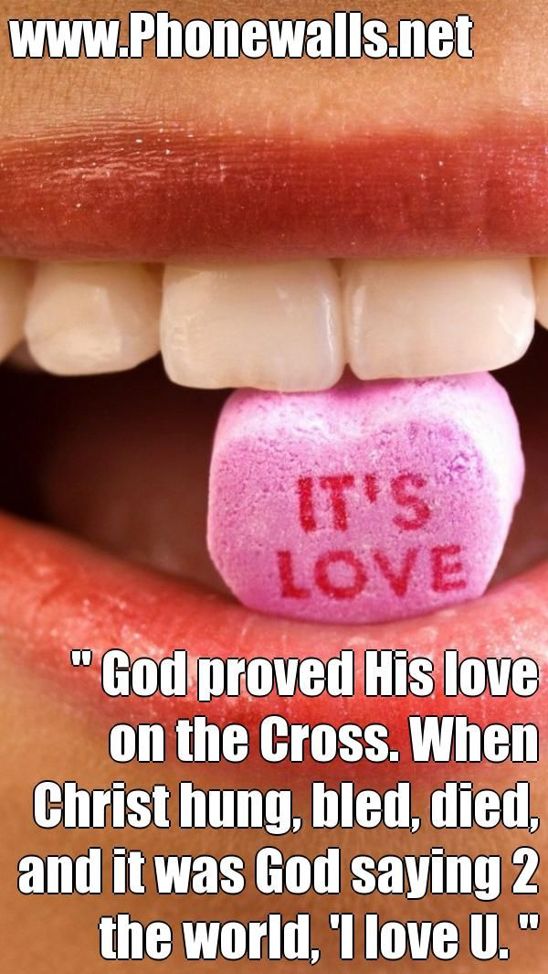 God proved his love on the crosss