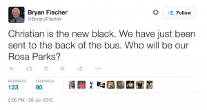 Bryan Fischer back of the bus
