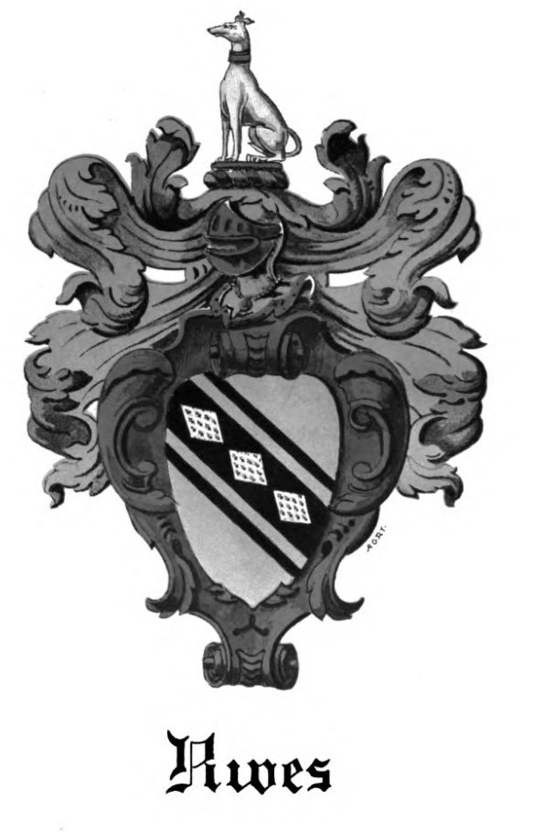 The Rieves family coat of arms. Until recently, I didn't know we had one.